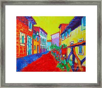 Mediterranean Cityscape Framed Print