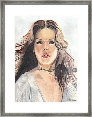 Mediterranean Girl Framed Print by Shawn Sanderson