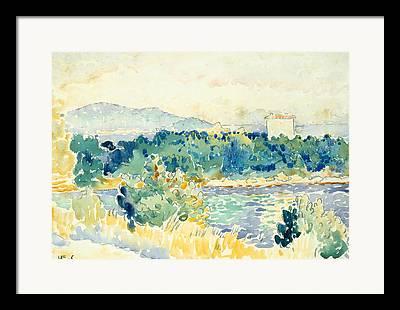 Mediterranean Landscape Drawings Framed Prints