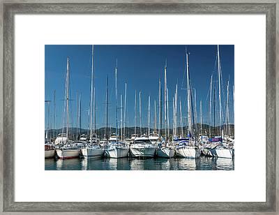 Mediterranean Marina Framed Print