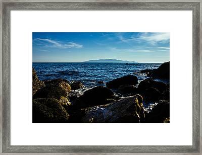 Mediterranean Sea - Argentario Framed Print by Cesare Bargiggia