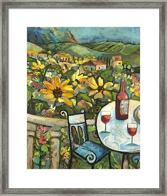 Mediterranean Seascape 1 Framed Print by Jen Norton