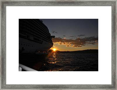 Mediterranean Sunset Framed Print
