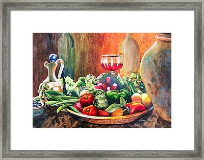 Mediterranean Table Framed Print by Karen Stark