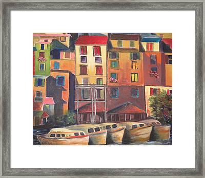 Mediterranean Waterfront Framed Print