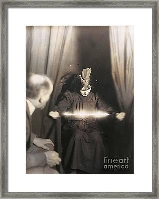 Medium During Seance 1912 Framed Print by Granger