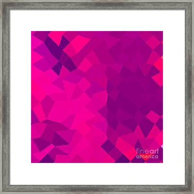 Medium Violet Red Abstract Low Polygon Background Framed Print by Aloysius Patrimonio