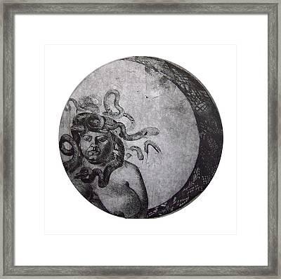 Medusa Framed Print by Adina Iancu