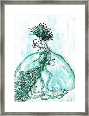 Medusa Framed Print by Anna Troian