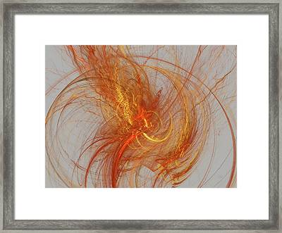 Medusa Bad Hair Day - Fractal Framed Print