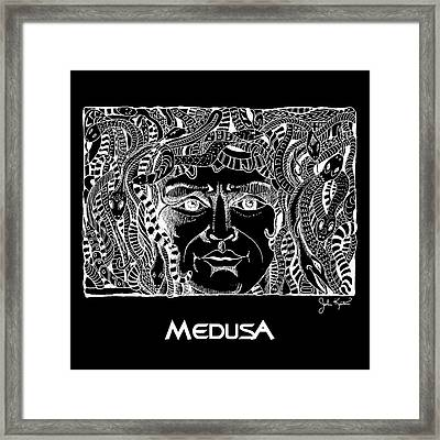 Medusa Design Framed Print by John Keaton