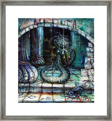 Medusa Framed Print by Heather Calderon