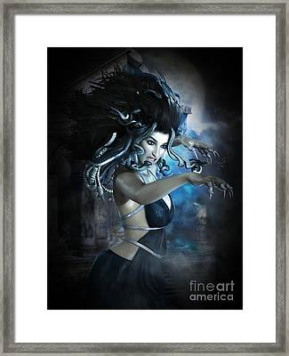 Medusa Framed Print by Shanina Conway
