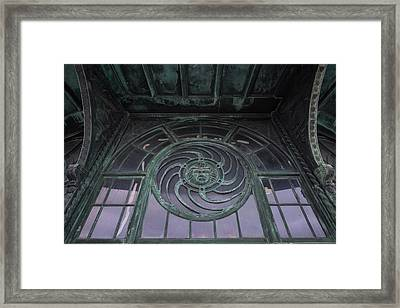 Medusa Window Carousel House Asbury Park Nj Framed Print