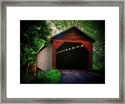 Meem's Bottom Covered  Bridge Framed Print by Joyce Kimble Smith