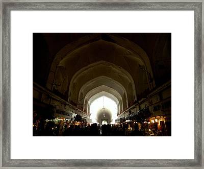 Meena Bazar Framed Print by Krishna Jhawar