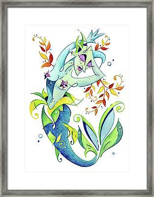 Meerjungfrau Art Design - Fantasy Illustration Framed Print