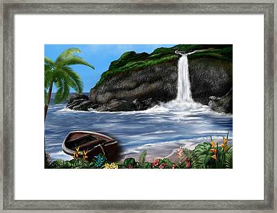 Meet Me At The Beach Framed Print