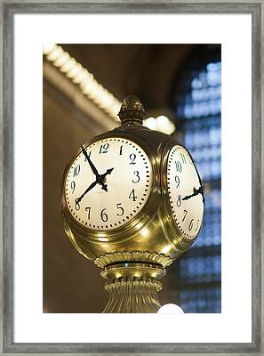 Meet Me At The Clock I Framed Print by Clarence Holmes