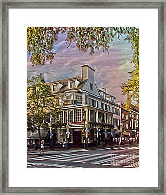 Meet Me At The Corner Framed Print