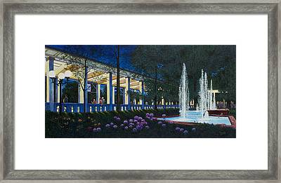 Meet Me At The Muny Framed Print by Michael Frank