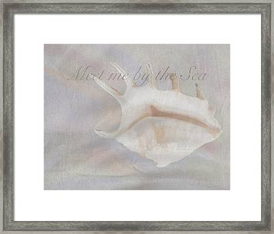 Meet Me By The Sea Framed Print