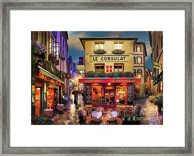 Meet Me In Paris Framed Print by David Maclean