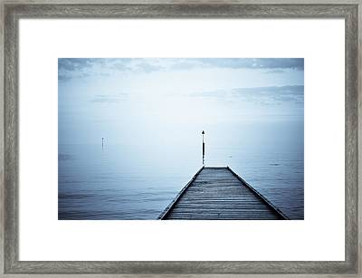 Meet Me On The Other Shore Framed Print by Livia Lazar