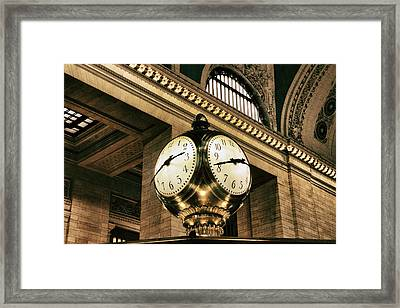 Meet Me Under The Clock Framed Print by Jessica Jenney