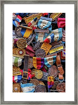 Framed Print featuring the photograph Meet Medals by Christopher Holmes