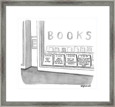 Meet The Author Framed Print by Amy Kurzweil