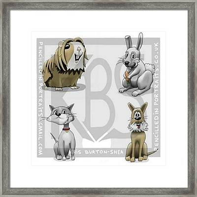 Meet The Critters!..4 Of My Creations Framed Print