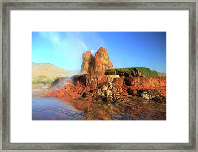 Meet The Fly Geyser Framed Print