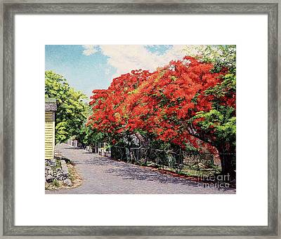 Meeting And Nassau Street Framed Print