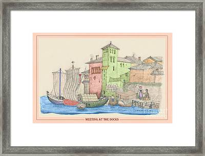 Meeting At The Docks Classic Framed Print by Donna Munro