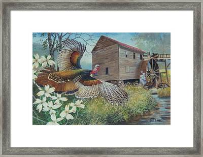 Meeting At The Mill  Sold Framed Print