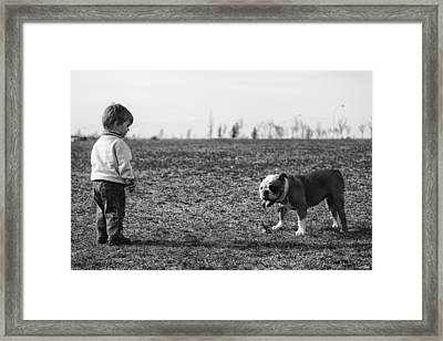Meeting Framed Print by Darcy Evans