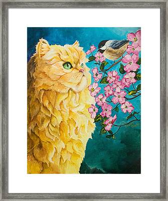 Meeting Eye To Eye Framed Print