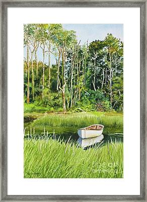 Meeting House Pond Framed Print by Karol Wyckoff