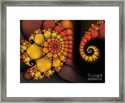 Framed Print featuring the digital art Meeting by Karin Kuhlmann