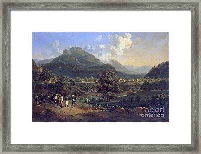 Meeting Of Napoleon With The Ambassadors Framed Print