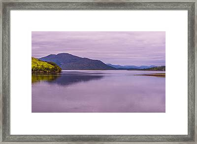 Framed Print featuring the photograph Meeting Of The Lochs  by Steven Ainsworth