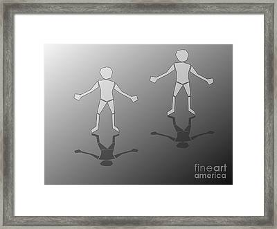 Meeting Point Framed Print by Franz Ziegler