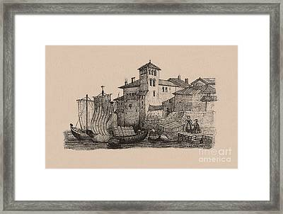 Meetings At The Dock Framed Print