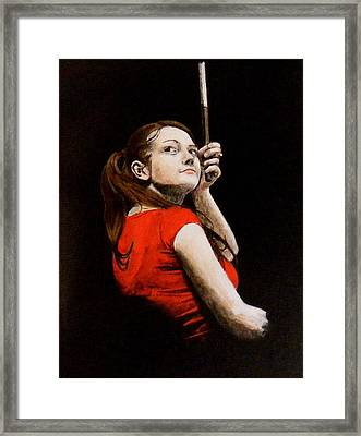 Meg White Framed Print by Luke Morrison