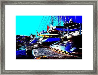 Mega Yachts Framed Print