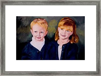 Megan And Justin Framed Print by Stan Hamilton