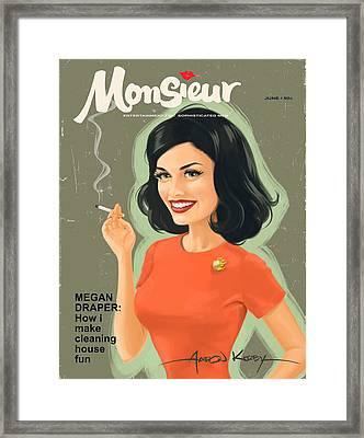 Megan Draper In Monsieur Framed Print
