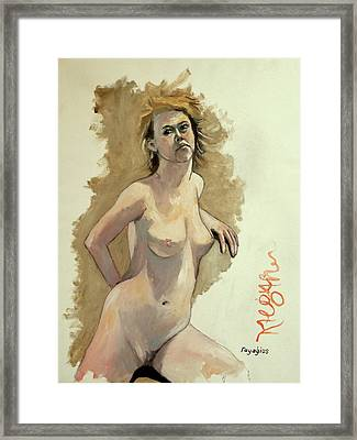 Framed Print featuring the painting Megan by Ray Agius