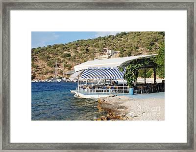 Meganissi Beach Taverna Framed Print